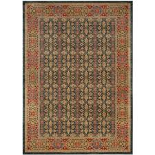 mahal light blue red 8 ft x 10 ft area rug