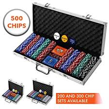 Professional 200 300 Or 500 Chips 11 5g Poker Set With Case By Rally Roar 3 Options Complete Poker Playing Game Sets With Casino Style Chips