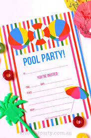 Free Pool Party Invitations Printable Free Printable Summer Pool Party Invitation The Girl Creative