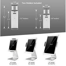 abovetek elegant aluminum ipad pro stand swivel ipad air mini kiosk pos stand