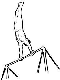 Artistieke Gymnastiek Op De Rekstok Kleurplaat Gratis Kleurplaten