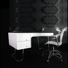 high gloss office furniture. LUMCODWH - Lumiere High Gloss Computer Desk White Office Furniture I