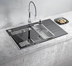 image cool kitchen. alveus crystalix glass kitchen sink inset one and a half with drainer hand image cool