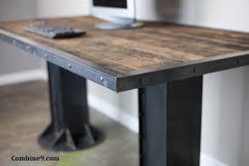 contemporary industrial furniture. modern industrial desk table steel ibeam urban loft decor contemporary furniture