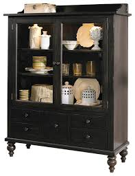 china cabinet hutch. Display Cabinet With Solids Rubberwood And Black Cherry China Hutch E