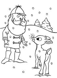 Small Picture Santa Ask Rudolph the Red Nosed to Lead Other Reindeer Coloring