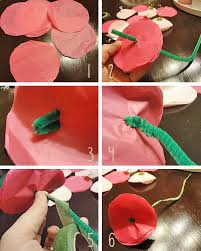 Flower Making With Crepe Paper Step By Step Tissue Paper Flowers The Hyper House