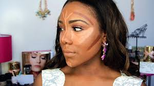 how to contour highlight foundation for black women makeup tutorial 2016 dark skin video dailymotion