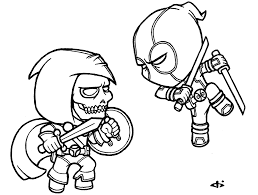 Chibi Deadpool Coloring Pages Color Bros