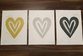 image is loading set mustard yellow grey silver love heart wall  on grey and mustard yellow wall art with set mustard yellow grey silver love heart wall art canvas post next