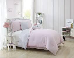 carter pink gray white comforter set twin twin xl