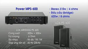 Loa Karaoke Arirang PS-600 - PS-600