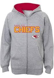 Full Chiefs Kansas Grey Youth City Stated Jacket Zip
