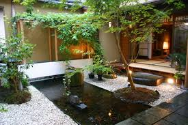 Small Picture Exterior Gorgeous Japanese Backyard Garden Landscaping Idea With