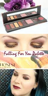 honest beauty falling for you palette review swatches tutorial video this is perfect for fall 2016