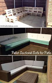 outdoor furniture made with pallets. Diy Pallet Sectional Sofa For Patio Self Installed 8 10 Seater Ideas Furniture Made Outdoor With Pallets