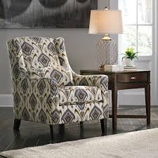 Printed Chairs Living Room Ashley 8100221 Barinteen Casual Printed Fabric Upholstery Accent Chair