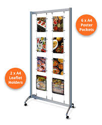 Display Stands For Pictures Extraordinary Display Stands On Wheels A32 Portrait With Leaflet Holders