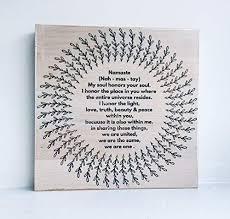 Holzbild Mit Sprüchen Namaste Yoga Meditation Mandala Relax