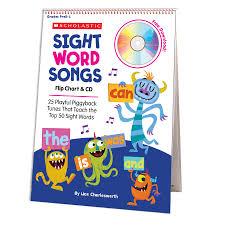 Buy Slight Word Songs Flip Chart And Cd 25 Playful