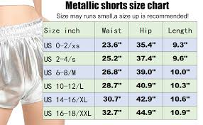 I Heart Raves Size Chart Makarthy Womens Metallic Shorts Rave Sparkly Hot Outfit Shiny Short Pants