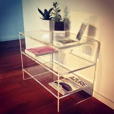 acrylic tv stand.  Acrylic Modern Design Clear Acrylic TV Stand With 2 Shelves Perspex End Table On Tv T