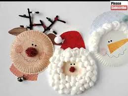 Christmas Paper Plate Crafts For Kids Beautiful Handmade Set Of Diy Picture Collections Ideas