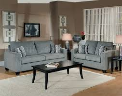 Contemporary living room couches Sectional Furniture Depot Grey Fabric Modern Living Room Sofa Loveseat Set