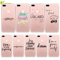 kl boutiques silicone case for iphone 5s 6s 6 7 plus 5 se coque fashion words love dream ultra thin transparent soft phone cover