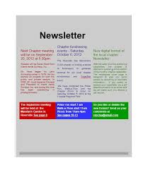 One Page Newsletter Templates 50 Free Newsletter Templates For Work School And Classroom
