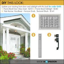 front door design diy project prairie bevel glass insert and sidelight with yale rainier handleset