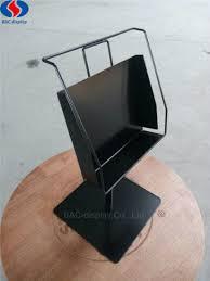 durable metal countertop hardware pegboard single bookshelf display rack