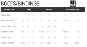 Burton Chicklet Size Chart 64 Circumstantial Burton Snowboard Bindings Size Chart