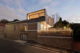 Small Picture Exteriors Volumetric House With Brown Brick Wall Exterior Design