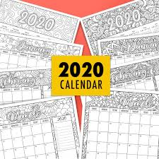 Alibaba.com offers 976 color printable calendar products. Free 2020 Printable Coloring Calendar By Sarah Renae Clark