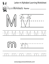 Letter Worksheets Kindergarten For Kids Alphabet Recognition
