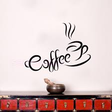 coffee cup wall stickers for kitchen coffee shop vinyl wall decals home decor removable wall art on wall art kitchen coffee with coffee cup wall stickers for kitchen coffee shop vinyl wall decals