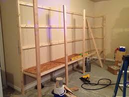 garage shelving plans built