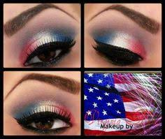 eye makeup fourth of july makeup