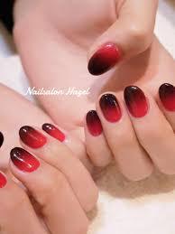 赤黒グラデ Nailsalon Hazel ヘーゼル
