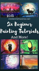 here you will find step by step canvas painting instructions for the absolute beginner these