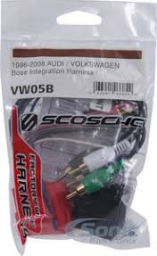 scosche vw05b bose integration harness 1993 2008 for select audi product scosche vw05b