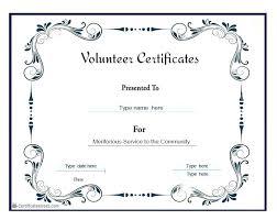 Award Certificate Template Volunteer Of Recognition Stockshares Co