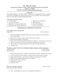 Resume Templates For Warehouse Worker Amazing Warehouse Worker Resume Objective Resume Pro