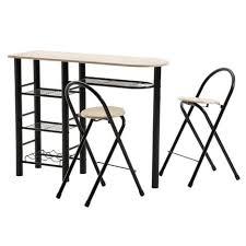 Ensemble table haute de bar et 2 chaises STYLE, décor chêne sonoma ...