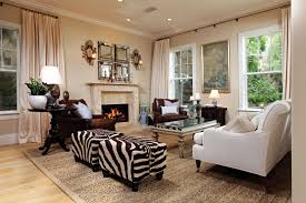 Furniture : Living Room With White Sofa Near Glass Coffee Table Also Square  Zebra Print Bench Seat On Large Brown Seagrass Rug Close To Cream Modern ...