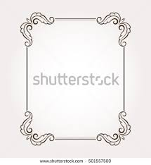 Floral Page Decoration Fancy Frame Border Stock Vector 501557500