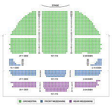 Gershwin Theater Seating Chart With Seat Numbers Seating Chart For Gershwin Theater The Gershwin Theatre
