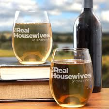 the real housewives personalized city stemless wine glass set of 2