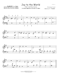 color my world sheet music joy to the world my music in color beginner piano school